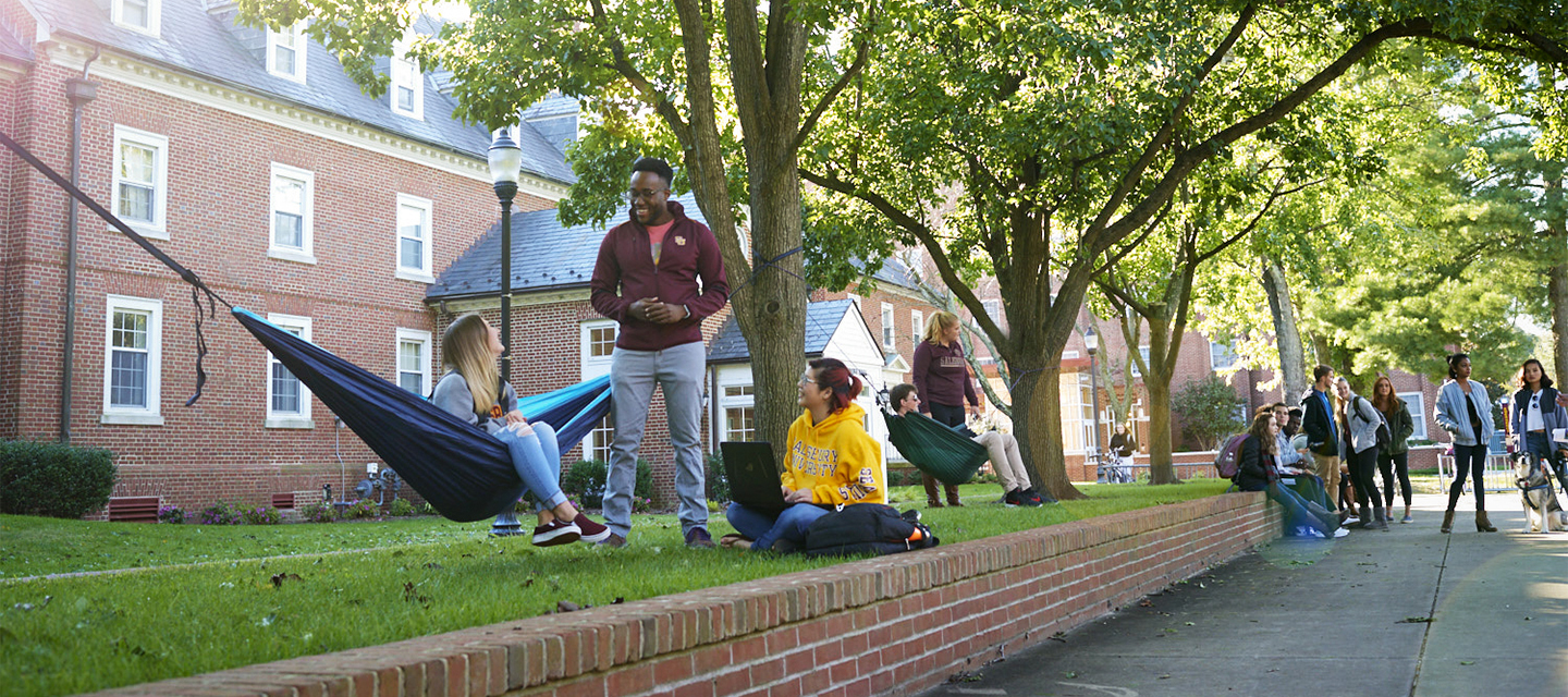 Salisbury University students attend the Big Event CommunityCleanup
