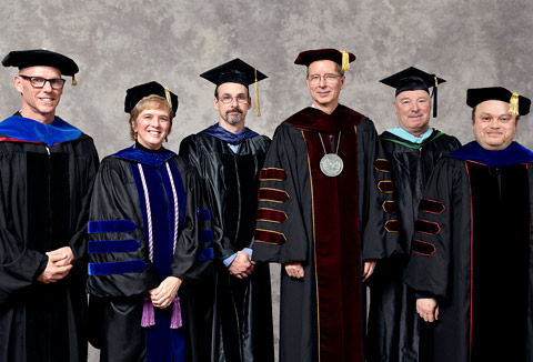 Drs. Dean Ravizza, Mary DiBartolo and Donald Spickler; SU President Charles Wight; William Burke and Dr. Dean Kotlowski